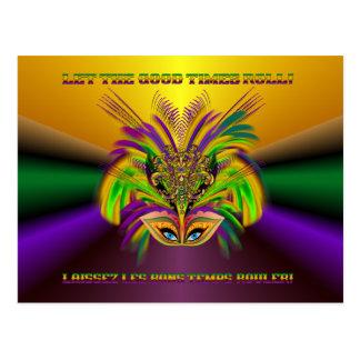 Cartão Postal Mardi-Gras-Mask-The-Queen-V-3