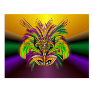 Cartão Postal Mardi-Gras-Mask-The-Queen-V-3
