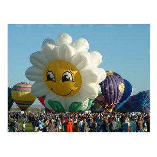Cartão Postal Margarida da festa do balão