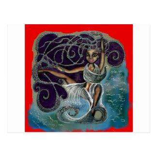 Cartão Postal Margarita envolveu nas águas eternos