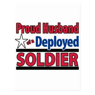 Cartão Postal Marido orgulhoso de um soldado distribuído