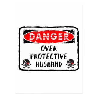 Cartão Postal Marido sobre protetor