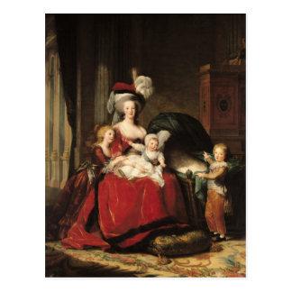 Cartão Postal Marie-Antoinette e suas crianças, 1787