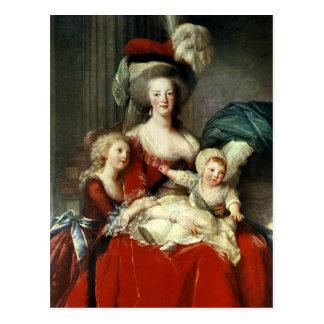 Cartão Postal Marie-Antoinette e suas quatro crianças, 1787