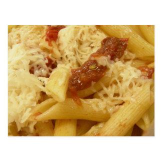Cartão Postal Massa, tomates & queijo de Penne