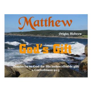 Cartão Postal Matthew