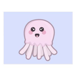 Cartão Postal Medusa de Kawaii