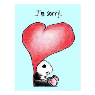 Cartão Postal Megg: Uma panda bonito - coração, eu sou pesaroso,