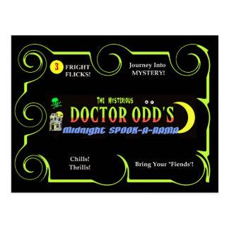 Cartão Postal Meia-noite Susto-Um-Rama do Dr. Impar