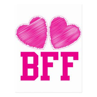 Cartão Postal Melhores amigos de BFF para sempre!!!