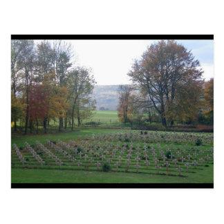 Cartão Postal Memórias de Flanders - sepulturas da guerra, WWI