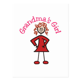 Cartão Postal Menina das avós