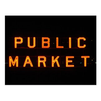 Cartão Postal Mercado de lugar de Pike