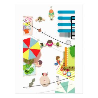 Cartão Postal Mercado do verão