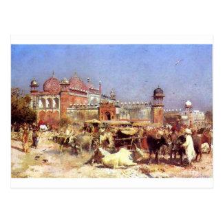 Cartão Postal Mercado em Agra pelo senhor Semana de Edwin