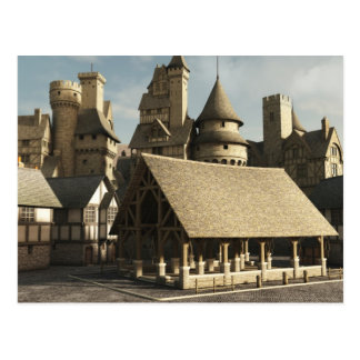 Cartão Postal Mercado medieval
