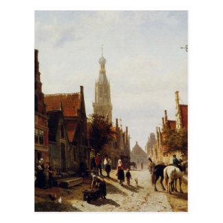 Cartão Postal Mercado Oudewater por Cornelis Springer