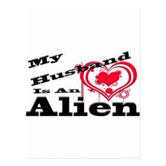 Cartão Postal Meu marido é uma alienígena