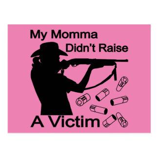 Cartão Postal Meu Momma não aumentou uma espingarda da vítima