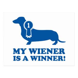 Cartão Postal Meu Wiener é um vencedor!