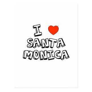 Cartão Postal Mim coração Santa Monica