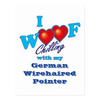 Cartão Postal Mim ponteiro Wirehaired alemão do Woof