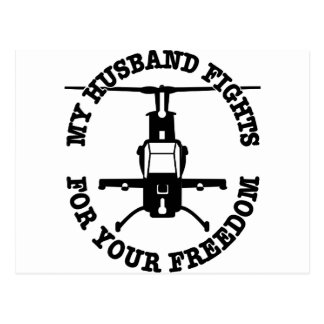 Cartão Postal Minhas lutas do marido para seu helicóptero da