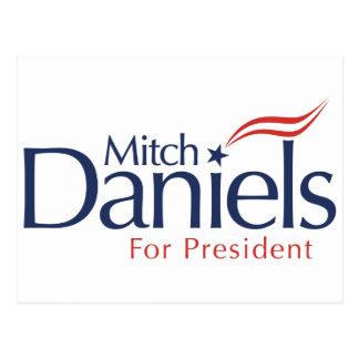 Cartão Postal Mitch Daniels para o presidente