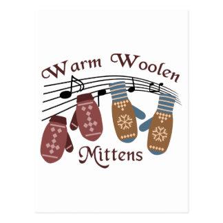 Cartão Postal Mitenes de lã mornos