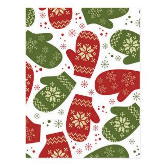 Cartão Postal Mitenes do Natal