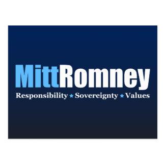 Cartão Postal Mitt Romney