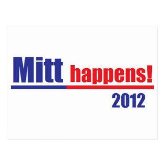 """Cartão Postal Mitt Romney """"luva acontece """""""