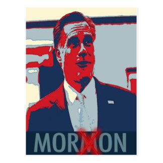 Cartão Postal Mitt Romney o parvo do Mormon