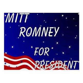 Cartão Postal Mitt Romney para o presidente céu nocturno