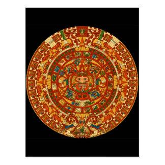 Cartão Postal Modelo asteca de Qpc dos presentes