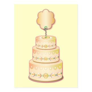 Cartão Postal Modelo do bolo