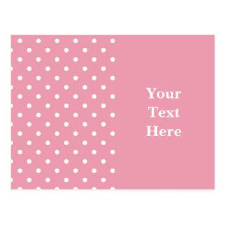 Cartão Postal Modelo do rosa cor-de-rosa