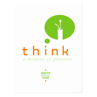 Cartão Postal Mojito pensa um momento do prazer