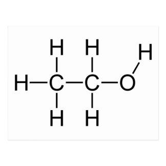 Cartão Postal Molécula do álcool
