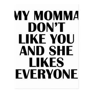 Cartão Postal momma