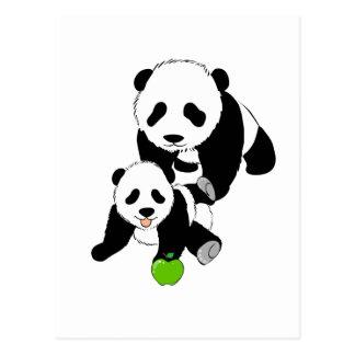 Cartão Postal Momma e panda do bebê