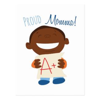 Cartão Postal Momma orgulhoso