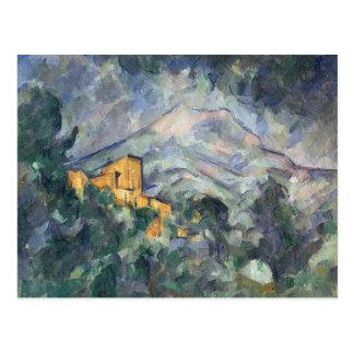 Cartão Postal Montagne Sainte-Victoire e o castelo preto