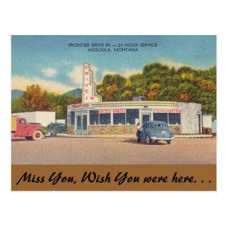 Cartão Postal Montana, cinema ao ar livre da fronteira, Missoula