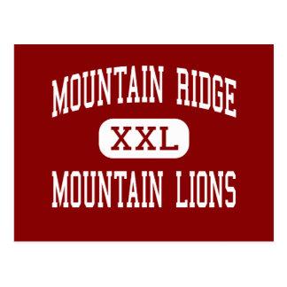 Cartão Postal Montanha Ridge - leões de montanha - alto -