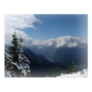 Cartão Postal Montanhas nevado