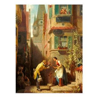 Cartão Postal Motriz do vintage - noivo eterno - Spitzweg