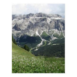 Cartão Postal Mountain View panorâmico das dolomites