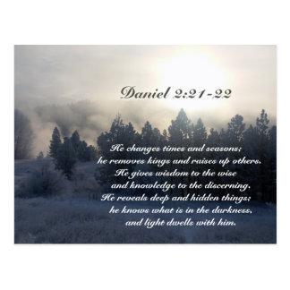 Cartão Postal Muda épocas e estações, bíblia do 2:21 de Daniel