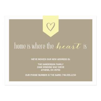 Cartão Postal Mudança bonito do anúncio de endereço